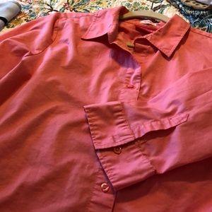 Liz Lang,Large, coral, button down shirt